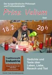 Prinz Valium liest im Industrie!, 1050 Wien  5. (Wien), 18.02.2015, 20:00 Uhr