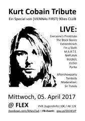 Kurt Cobain Tribute zum 23. Todestag, 1010 Wien,Innere Stadt (Wien), 05.04.2017, 19:30 Uhr