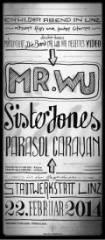 Mr. Wu + Parasol Caravan + Sister Jones, 4020 Linz (OÖ), 22.02.2014, 21:30 Uhr