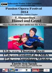 """E. Humperdinck: """"Hänsel und Gretel  Eine märchenhafte Oper nicht nur für Kinder"""", 1040 Wien  4. (Wien), 27.06.2014, 18:00 Uhr"""
