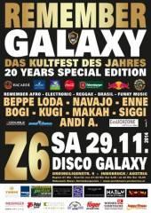 Remember Galaxy Nr. 20 Special Edition, 6020 Innsbruck (Trl.), 29.11.2014, 21:00 Uhr
