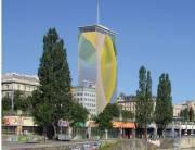 Ringturmverhüllung durch Arnulf Rainer, 1010 Wien  1. (Wien), 16.06.2014, 18:30 Uhr