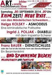 Krimi.Zeit! bilder.worte.töne, 1200 Wien 20. (Wien), 15.10.2014, 11:30 Uhr