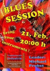 Blues Session im Industrie!, 1050 Wien  5. (Wien), 21.02.2015, 20:00 Uhr