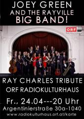 RAY CHARLES TRIBUTE WITH JOEY GREEN AND THE RAYVILLE BIG BAND, 1040 Wien,Wieden (Wien), 24.04.2015, 20:00 Uhr