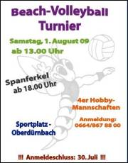 Beachvolleyball-Turnier, 3721 Oberdürnbach (NÖ), 01.08.2009, 13:00 Uhr
