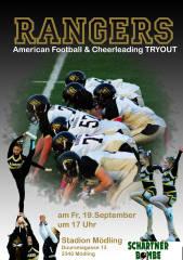 Schnuppertraining beim American Football Club Rangers - We want you!, 2340 Mödling (NÖ), 19.09.2014, 16:30 Uhr
