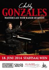 Chilly Gonzales - Masterclass with Kaiser Quartett, 1060 Wien  6. (Wien), 18.06.2014, 20:00 Uhr