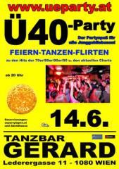 Ü40-Party, 1080 Wien  8. (Wien), 14.06.2014, 20:00 Uhr