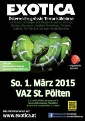 Exotica Reptilienbörse, 3100 St. Pölten (NÖ), 01.03.2015, 10:00 Uhr
