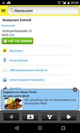 Screenshot von Mit der HEROLD App haben Sie 4 Mio Telefonnummern, 350.000 Firmendaten und Karte&Route immer dabei!