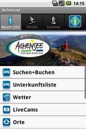 Screenshot von Der interaktive echtzeit-guide für den Achensee mit offiziellen Daten.