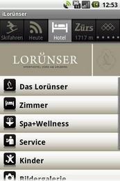 Screenshot von Erleben Sie das Lorünser jetzt auch als Android App.