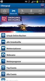 Screenshot von Der interaktive Echtzeit-Resortguide für Obergurgl-Hochgurgl von intermaps mit offiziellen Daten.