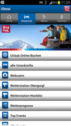 Screenshot von Der interaktive Echtzeit-Resortguide für das Ötztal von intermaps mit offiziellen Daten.