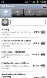 Screenshot von Von Lech über Kitzbühel , Schladming oder das Nassfeld bis nach Stuhlegg - iSKI von intermaps informiert alle Skifahrer, Snowboarder und andere Wintersportbegeisterte über die aktuellsten Daten aus 246 österreichischen Skigebieten.