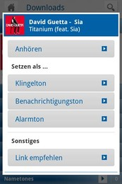 Screenshot von Einfach g'funden: Ringtones, Games, Apps & Handystyling in der gratis SmartZone von sms.at!