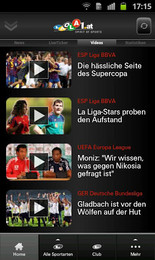 Screenshot von LAOLA1 wird jetzt noch mobiler. LIVE-Ticker, News, Statistiken, exklusive Videos