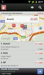 Screenshot von DIE Spritpreisrechner-App für dein Smartphone: Vollständig, übersichtlich, schnell.
