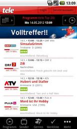 Screenshot von Mit der kostenlosen App haben Sie Ihr schnelles und individuelles TV-Programm immer unterwegs dabei.