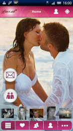 Screenshot von Ab sofort kannst du mit der kostenlosen Love.at App auch unterwegs deine Liebe finden.