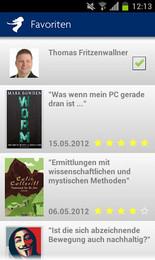 Screenshot von Mit der neuen kostenlosen Thalia eReading App holen Sie sich pures Lesevergnügen auf Ihr Smartphone und Tablet.