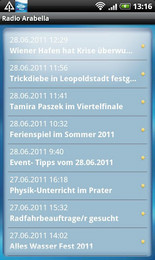 Screenshot von Radio Arabella 92,9  Wiens Musiksender - ist ab jetzt auch auf Ihrem Android ganz leicht und weltweit zu empfangen.