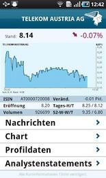 Screenshot von Westentaschenbroker. Die neue WirtschaftsBlatt investor-App. investor mobile ist die App für Anlageprofis, Investoren und Finanzexperten.
