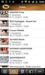 Screenshot von Jetzt für alle Nachtschwärmer und ROX Fans: Die gratis Android App von ROX.