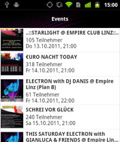 Screenshot von Jetzt für alle Nachtschwärmer und empire Fans: Die gratis nach(t)leben Android App.