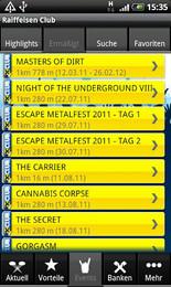 Screenshot von Nie wieder eine Ermäßigung bei Partnern und Konzerten als Raiffeisen Club-Mitglied verpassen!