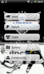 Screenshot von Die offizielle Android App der EHC LIWEST Black Wings Linz! Schneller wissen, was bei den Linzern los ist!