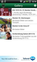 Screenshot von Mit der offiziellen App des FC Wacker Innsbruck hast du deinen schwarz-grünen Lieblingsverein immer in der Hosentasche mit dabei.