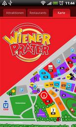 Screenshot von Mit der Prater App können Sie sich über den Wiener Prater, dem größten Freizeit- und Familienpark Österreichs, noch besser informieren und Ihren Besuch planen.