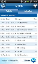 Screenshot von Erleben Sie die Faszination Fußball. Hautnah und direkt. Viel Spaß wünscht Ihr Team des SC Wiener Neustadt