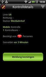 Screenshot von Die Schwarzkappler App möchte darauf hinweisen, dass Schwarzfahren die teuerste Variante ist mit den Öffis unterwegs zu sein.