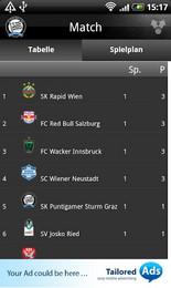 Screenshot von Hol dir alle Infos über den SK Sturm direkt auf dein Android Handy und sei live dabei wo auch immer du gerade bist!
