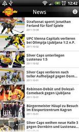 Screenshot von Mit der EV Vienna Capitals Android App sind die Caps Fans laufend up to date über Top News vom Verein uvm.!