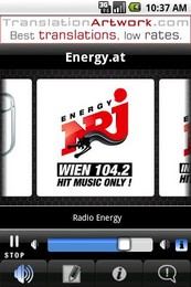 Screenshot von Die erste und einzige kostenlose Energy Android App für Österreich mit Livestreams aus Wien, Salzburg & Innsbruck!