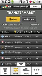 Screenshot von Der LAOLA1 BL-Manager jetzt als App! Manage dein Team und hol den Gesamtsieg!