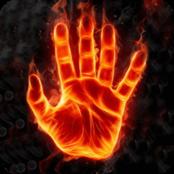 Feurige Hand