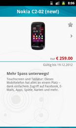 Screenshot von Erleben Sie ab sofort die Welt von Elektro haas auch auf Ihrem Android-Smartphone. Mit der Elektro haas-App kommen Benutzer von Android-Smartphones in den Genuss exklusiver Angebote und Services.