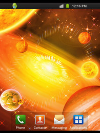Screenshot von Glowing Galaxy