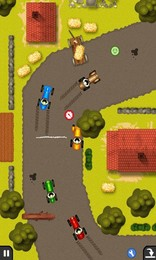 Screenshot von Klassischen 2D Rennspiel