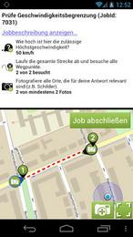 Screenshot von Du bist oft draußen in der Stadt unterwegs, zu Fuß oder mit dem Fahrrad? Du hast gerade den Bus verpasst, hast Leerlauf nach der Uni oder suchst einfach etwas zum Zeitvertreib in deiner Freizeit? Dann werde AppJobber!