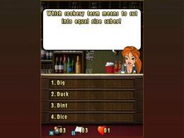 Screenshot von Der ganze Spass deines lokalen Bar Ratespiels, nur mit einer attraktiveren Bardame. Und zudem kannst du jetzt mit bis zu fünf Freunden spielen.