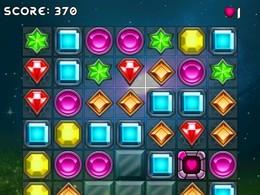 Screenshot von Ein klassisches Match-3 Spiel. Du musst viele Missionen meistern um den Krystal der Macht wiederzuerlangen und die Erde zu retten!