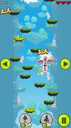 Screenshot von Lass Doggy springen, sodass er alle Knochen sammeln kann. Dieses kleine niedliche Tier liebt es zu spielen.