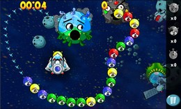 """Screenshot von """"Ich weiß, dass du Urlaub hast, aber wir brauchen deine Hilfe! Die Blasen greifen wieder an. Wir dürfen keine Zeit verschwenden! Spring in dein Schiff, flieg los und erledige dieses Problem ein für alle Mal!"""