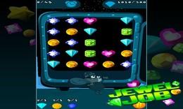 Screenshot von Du ahnst ja nicht, welche Schätze sich in deinem Handy verbergen! Wenn du reich sein willst, dann sammle Diamanten, Rubine und Saphire im neuen Spiel Jewel Job.